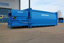 DuoMax waste compactor for large amount of waste