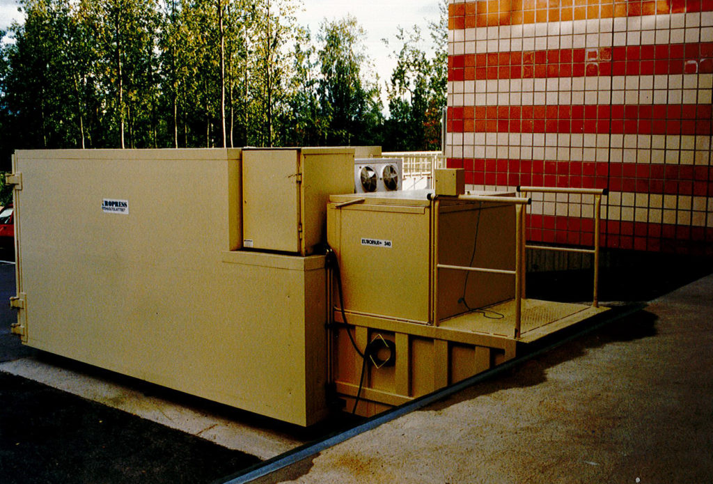 One of the firs waste compactors of Europress