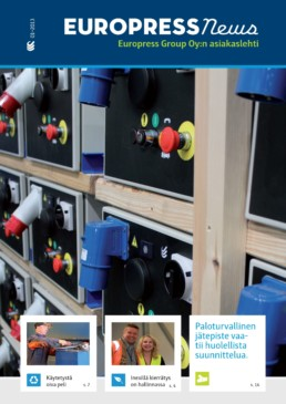 Jumbon jätehuolto ja kierrätys. Jätepuristimien ja jätepaalaimien paloturvallisuus.
