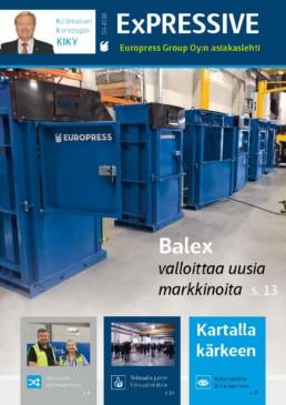 Jätehuollon automatisointi ja Balex-50 jätepaalain ovat aiheita tässä numerossa
