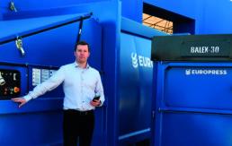 oppiva jätepuristin ja oppiva jätepaalain