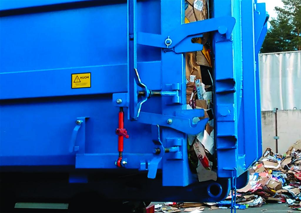 jätepuristimen takaovi