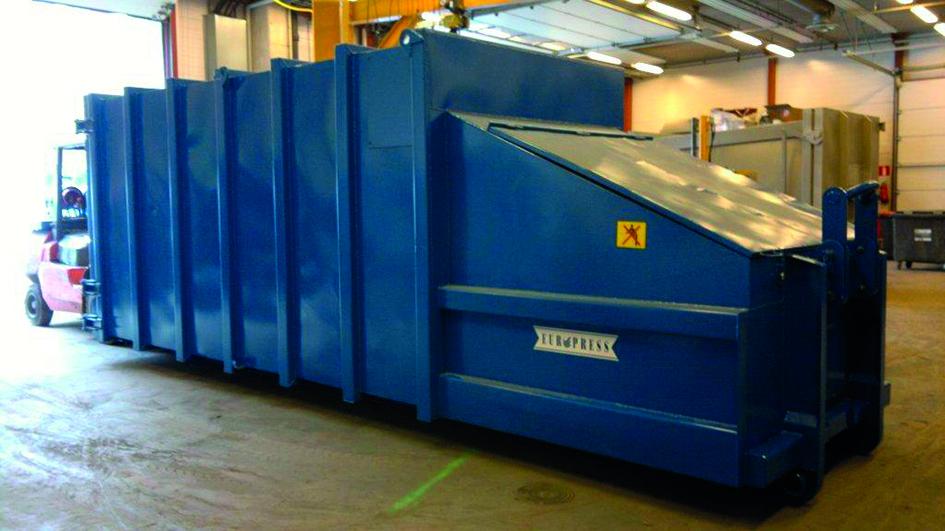 käytetty jätepuristin kuivajätteelle