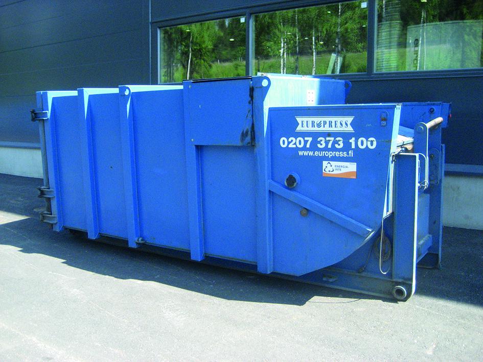 käytetty jätepuristin biojätteelle